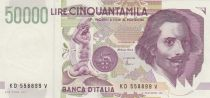 Italy 50000 Lire G.L. Bernini - 1992 - AU - P.116c - Serial KD