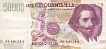 Italy 50000 Lire G.L. Bernini - 1992 - Serial DD - VF