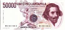 Italy 50000 Lire G.L. Bernini - Equestrian statue - 1984