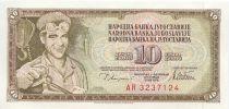 Iugoslavia 10 Dinara Steelworker