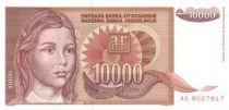 Iugoslavia 10000 Dinara Young girl