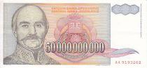 Iugoslavia 50 Milliards Dinara Dinara, Serbian Prince Milan Obrenovich - Villa Obrenivich