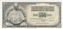 Iugoslavia 500 Dinara - Nikola Tesla - Face value - 1981