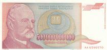 Iugoslavia 500 Milliards of Dinara - J. Zmaj Poet - 1993