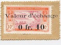 Ivory Coast 0.10 Franc Postage Stamp - 1920