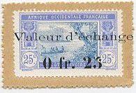 Ivory Coast 0.25 Franc Postage Stamp