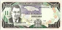 Jamaica 100 Dollars, Sir Donald Sangster - Waterfall - 1987