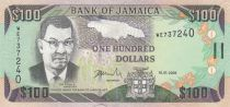 Jamaica 100 Dollars Sir Donald Sangster - Waterfall - 2004