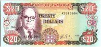 Jamaica 200 Dollars, Noel Nethersolle - Bank - 1985