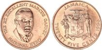 Jamaica 25 Cents - Marcus Garvey - 1996