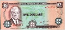 Jamaica 5 Dollars, Norman Manley - 1978