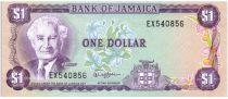 Jamaïque 1 Dollar Alexander Bustamante - Plage et Mer - 1982-1986 Série EX
