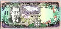 Jamaïque 100 Dollars, Sir Donald Sangster - Cascade - 1992