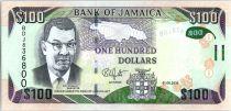 Jamaïque 100 Dollars, Sir Donald Sangster - Cascade - 2016 Hybride