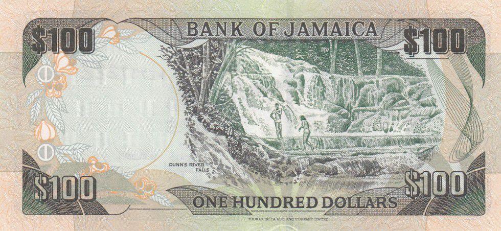 Jamaïque 100 Dollars Sir Donald Sangster - Cascade - 2004