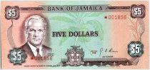 Jamaïque 5 Dollars, Norman Manley - 1978
