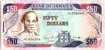 Jamaïque 50 Dollars, Samuel Sharpe - Plage - 1988