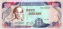 Jamaïque 50 Dollars Samuel Sharpe - Plage - 2004