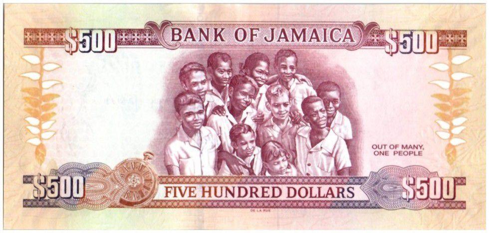 Jamaïque 500 Dollars 50 e Anniversaire de l\'indépendance