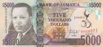 Jamaïque 5000 Dollars Hugh Hearer - 50 e anniversaire de l\'indépendance - 2012