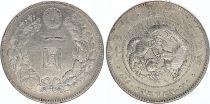 Japan 1 Yen Dragon  - 1891 Meiji 24 1er ex