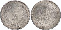 Japan 1 Yen Dragon  - 1891 Meiji 24 2em ex