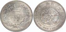 Japan 1 Yen Dragon  - 1891 Meiji 24 3em ex