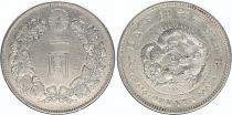 Japan 1 Yen Dragon  - 1892 Meiji 25