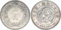 Japan 1 Yen Dragon  - 1892 Meiji 27