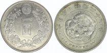 Japan 1 Yen Dragon  - 1894 Meiji 27 2 em ex