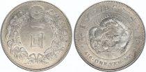 Japan 1 Yen Dragon  - 1895 Meiji 28