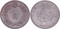 Japan 1 Yen Dragon  - 1895 Mutsuhito Year 28 - XF