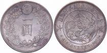 Japan 1 Yen Dragon  - 1897 Mutsuhito Year 30 - AU