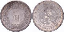 Japan 1 Yen Dragon  - 1905 Mutsuhito Year 38 - AU