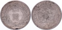 Japan 1 Yen Dragon  - 1905 Mutsuhito Year 38 - VF+