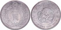 Japan 1 Yen Dragon  - 1906 Mutsuhito Year 39 - Au