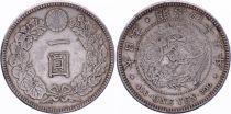 Japan 1 Yen Dragon  - 1912 Mutsuhito Year 45 - VF+