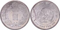 Japan 1 Yen Dragon  - 1912 Mutsuhito Year 45 - XF+