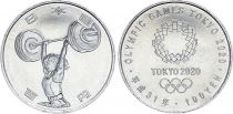 Japan 100 Yen, Weight-lifting  - Olympics Games TOKYO 2020 - AU