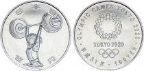 Japan 100 Yen, Weight-lifting  - Olympics Games TOKYO 2020 - AU