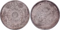 Japan 20 Sen Dragon - 1871 Mutsuhito Year 4 - XF