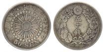 Japan 50 Sen, Flower  - Various Years 1913 à 1926