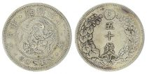 Japan 50 Sen, Flower- Dragon - 1899 YR. 32- First ex.