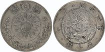Japan 50 Sen Dragon - 1870 Meiji 3 - 4 em ex