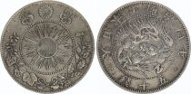 Japan 50 Sen Dragon - 1871 Meiji 4 - 3 em ex