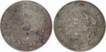 Japan 50 Sen Dragon - 1871 Meiji 4 - 5 em ex