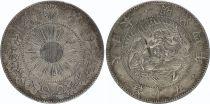 Japan 50 Sen Dragon - 1871 Meiji 4 - 6 em ex