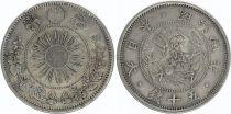 Japan 50 Sen Dragon (Small) - 1871 Meiji 4 - 1 er ex