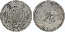Japan 50 Sen Dragon (Small) - 1871 Meiji 4 - 2 em ex