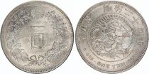 Japon 1 Yen Dragon  - 1891 Meiji 24 3em ex